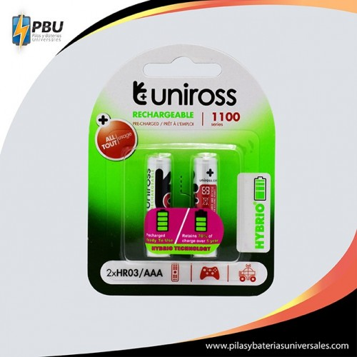 2AAA-Uniross-Recargable